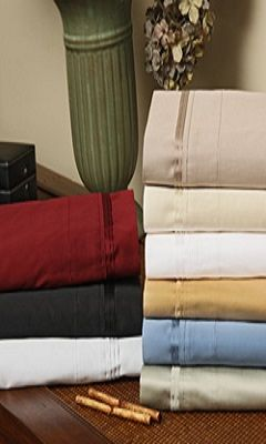 1000 Thread Count Attached Waterbed Sheet Sets (Style: Solid)
