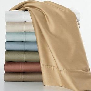 1000TC Solid 8PC Bed in a Bag Set with Goose Down Comforter