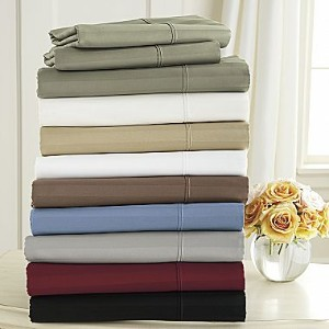 1000TC Stripe 8PC Bed in a Bag Set with Goose Down Comforter