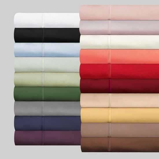 1200 Thread Count 100% Egyptian Cotton Queen Sheet Sets (Style: Solid)