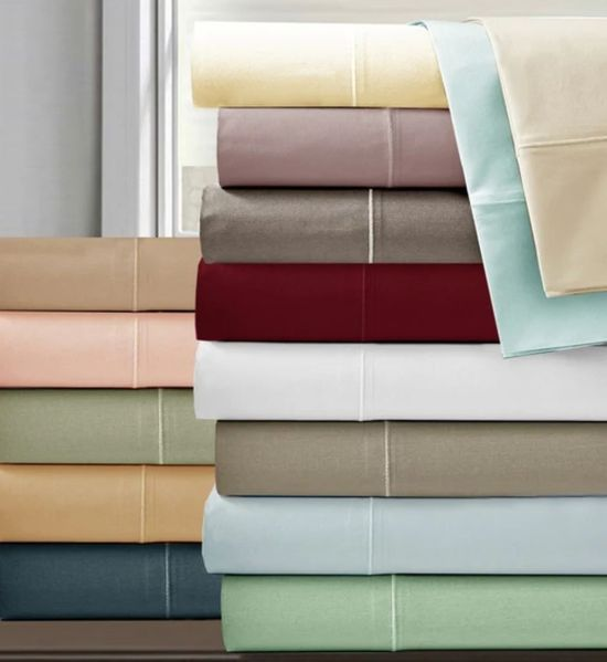 1200 TC Rayon from Bamboo Cotton Sheet Sets (Style: Solid)