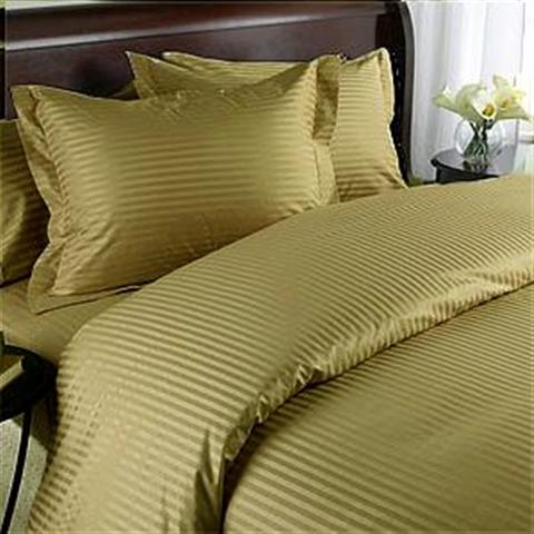 1200TC 8PC Bed in a Bag with Down Alternative Comforter (Style: Stripe)