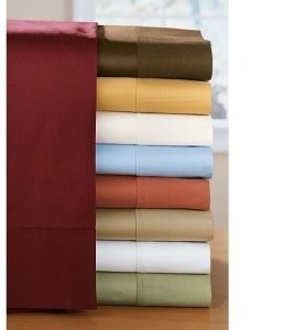 1200TC Stripe 8PC Bed in a Bag Set with Goose Down Comforter