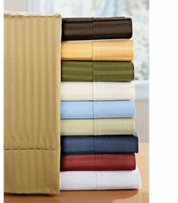 1500 Thread Count 100% Egyptian Cotton Olympic Queen Sheet Sets (Stripe)