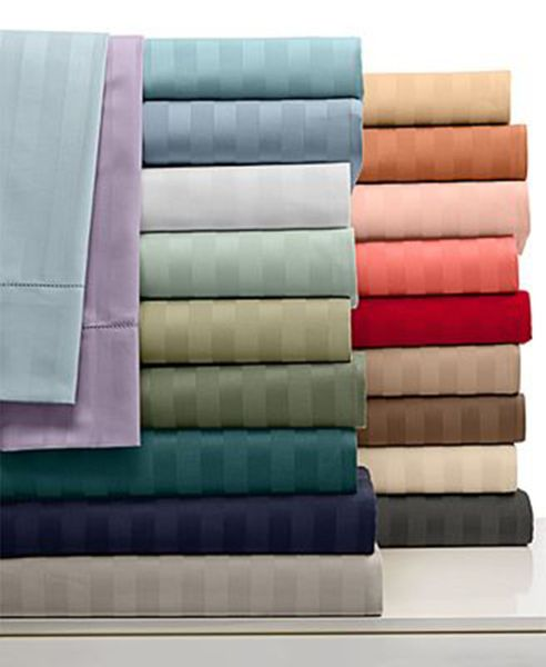 1500 Thread Count 100% Egyptian Cotton Twin XL Sheet Sets (Style: Stripe)