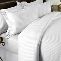 1500TC 8PC Bed in a Bag with Down Alternative Comforter (Style: Stripe)