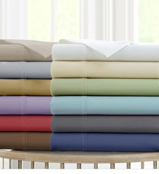 300 TC Rayon from Bamboo Cotton Sheet Sets (Style: Solid)
