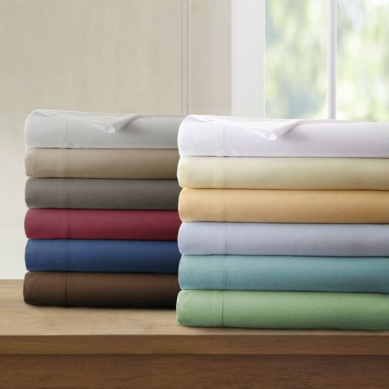 300 Thread Count 100% Egyptian Cotton Twin XL Sheet Sets (Style: Solid)