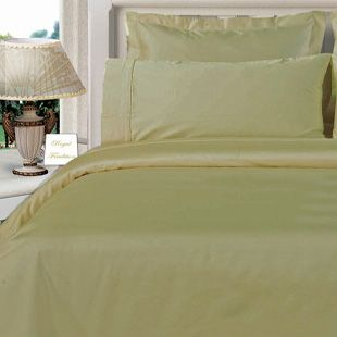 3PC 100% Egyptian Cotton Twin XL Beige Solid Comforter Cover Set
