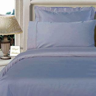 3PC 100% Egyptian Cotton Twin XL Blue Solid Comforter Cover Set