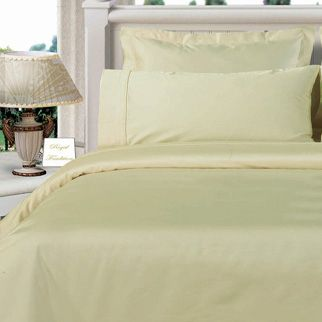 3PC 100% Egyptian Cotton Twin XL Ivory Solid Comforter Cover Set