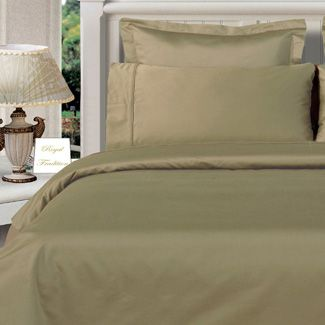 3PC 100% Egyptian Cotton Twin XL Sage (Green) Solid Comforter Cover Set