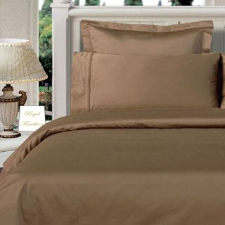 3PC 100% Egyptian Cotton Twin XL Taupe Solid Comforter Cover Set