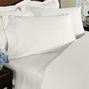 3PC 100% Egyptian Cotton Twin XL White Solid Comforter Cover Set