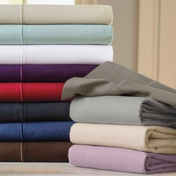 600 Thread Count Attached Waterbed Sheet Sets (Style: Solid)