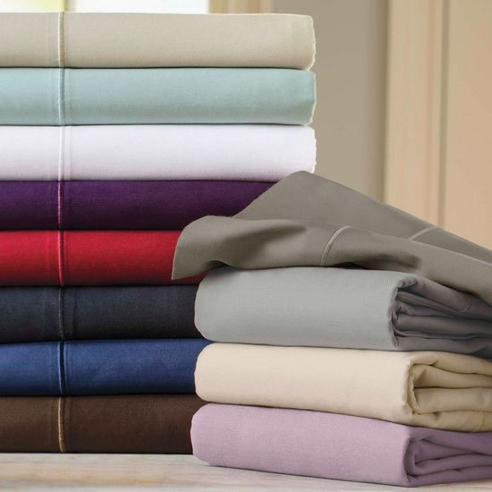 600 Thread Count 100% Egyptian Cotton Queen Sheet Sets (Style: Solid)