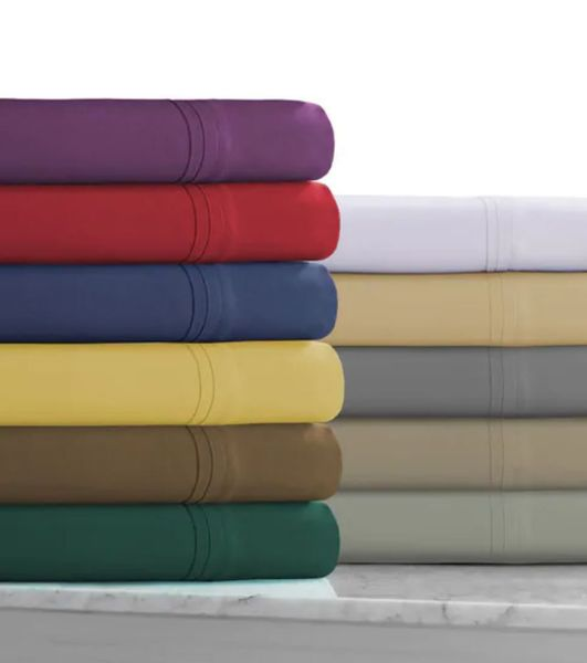 600 Thread Count Rayon from Bamboo Cotton Sheet Sets (Style: Solid)
