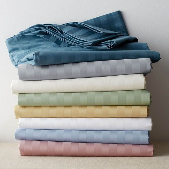 600 Thread Count 100% Egyptian Cotton Twin Sheet Sets (Style: Stripe)