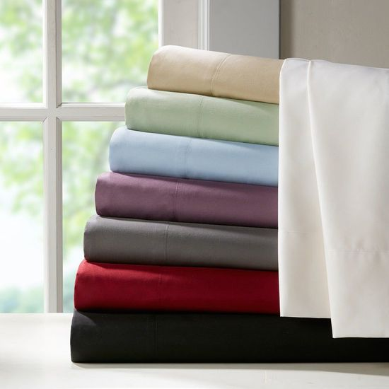 800 Thread Count 100% Egyptian Cotton Twin Sheet Sets (Style: Solid)