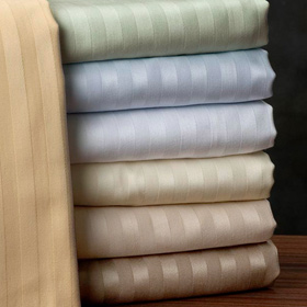 800TC Stripe 8PC Bed in a Bag Set with Goose Down Comforter