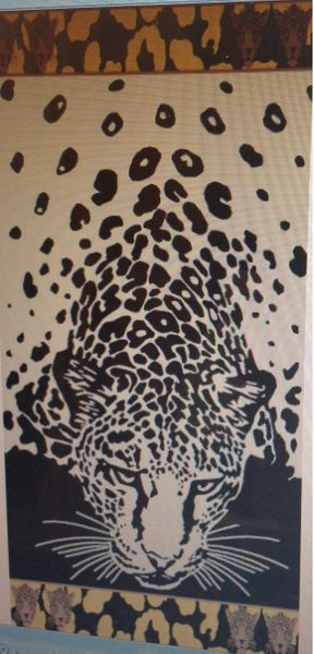 """""""Tiger in the Beach"""" 40x70"""" Egyptian cotton Beach Towel"""