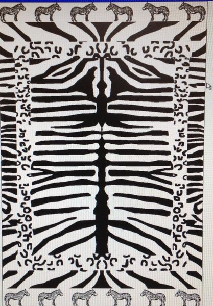"""Zebra Print"" 40x70"" Egyptian Beach Towel"
