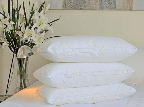Luxury Goose Down Pillow - 1200 Thread Count Egyptian Cotton , MEDIUM FIRM, Queen Size