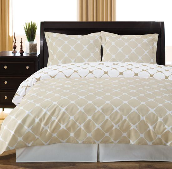 Ivory & Linen Twin /Twin XL 2PC Bloomingdale Duvet Cover Set