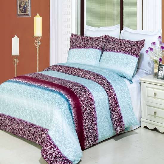 Kimberly Printed 100% Cotton 3-Piece Duvet Cover Set