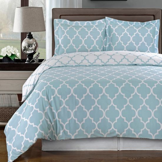 Meridian Blue 100% Egyptian Cotton Duvet Cover Set
