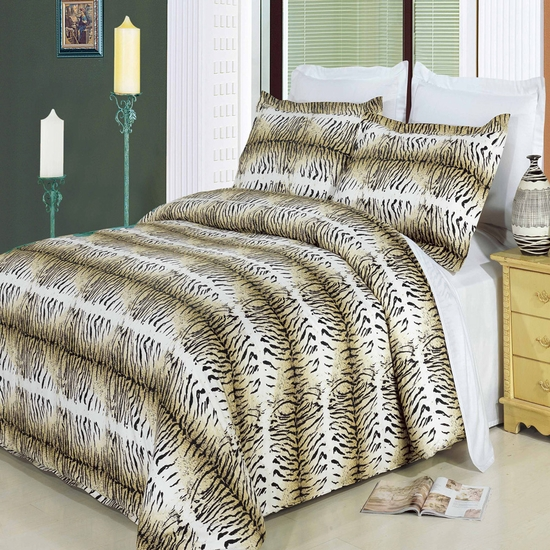 Safari  100% Cotton 3-Piece Duvet Cover Set