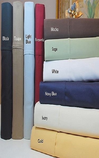 Split King 600 Thread count  100% Egyptian Cotton (Style:Solid)