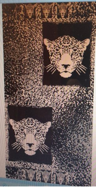 """Tiger"" 40x70"" Egyptian Beach Towel"