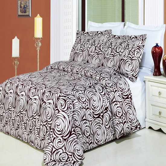 Tustin Printed 100% Cotton 3-Piece Duvet Cover Set