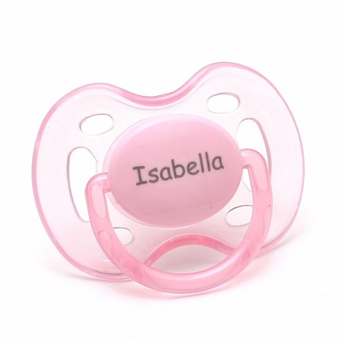 """<FONT COLOR=""""blue"""">AVENT Personalized Pacifiers Pink & White (0-6m)</FONT>"""