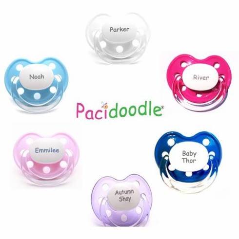 Pick 4 - NUK Shaped Personalized Pacifiers