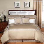 10 pc Hotel Spa Embroidery Collection Queen Duvet Bedding Set- Many Colors Available