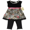 2pc Baby Girls Leopard Rose Outfit by Sweet Jojo Designs