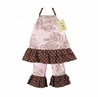2pc Pink and Brown French Toile Baby Outfit by Sweet Jojo Designs
