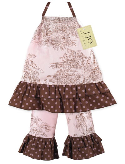 2pc Pink And Brown French Toile Baby Outfit By Sweet Jojo Designs Only 14 99
