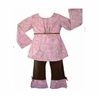 2pc Pink and Brown Paisley Baby Girls Boutique Outfit