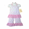 2pc Pink, Green, and White Polka Dot Halter Outfit by Sweet Jojo Designs