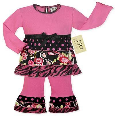 2pc Polka Dot, Floral and Zebra Print Rumba Outfit - Click to enlarge