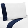 3 pc Navy and White Twin Sheet Set for Blue Whale Bedding Collection