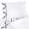 3 pc Twin Sheet Set for Black and White Princess Bedding Collection - White