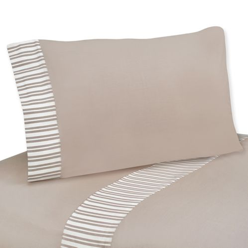 3 pc Twin Sheet Set for Giraffe Neutral Bedding Collection by Sweet Jojo Designs - Click to enlarge
