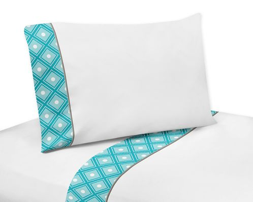 3 pc Twin Sheet Set for Mod Elephant Bedding Collection by Sweet Jojo Designs - Click to enlarge