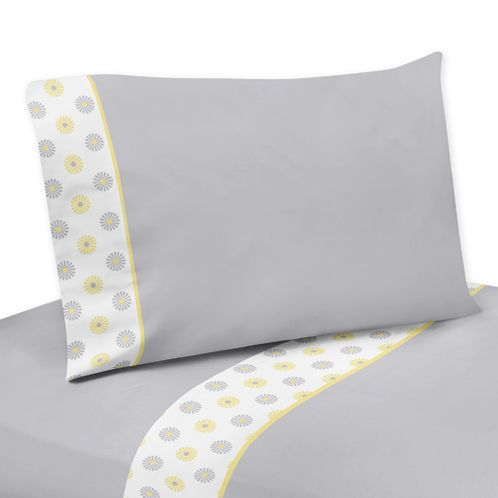 3 pc Twin Sheet Set for Mod Garden Bedding Collection by Sweet Jojo Designs - Click to enlarge