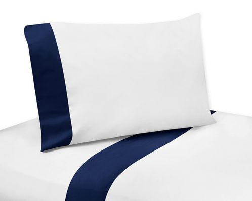 3 pc Twin Sheet Set for Navy, Mint and Grey Woodsy Bedding Collection by Sweet Jojo Designs - Click to enlarge