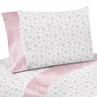3 pc Twin Sheet Set for Pink and Gray Alexa Butterfly Bedding Collection